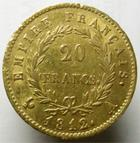 Photo numismatique  Monnaies Monnaies Française en or 1er Empire 20 Francs or NAPOLEON Ier, 20 francs or 1812 A, G.1012 TTB
