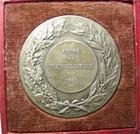 Photo numismatique  Monnaies Monnaies/medailles d'Alsace Strasbourg Médaille en bronze argenté STRASBOURG, médaille en bronze argenté, 50.40 mm, foire de Strasbourg campagne 1919, cheval et vache, SUPERBE avec ecrin