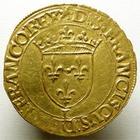 Photo numismatique  Monnaies Monnaies royales en or François Ier Ecu d'or à la croisette FRANCOIS Ier, Ecu d'or à la croisette, 1541 Bayonne, 3.39 grammes, DY.889 TTB+