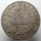 Photo numismatique  Monnaies Monnaies Françaises 1er Empire 5 Francs NAPOLEON Ier, 5 francs 1813 A Paris, G.584 TTB+