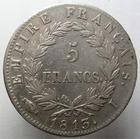 Photo numismatique  Monnaies Monnaies Françaises 1er Empire 5 Francs NAPOLEON Ier, 5 francs 1813 I Limoge, G.584 TTB