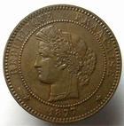 Photo numismatique  Monnaies Monnaies Françaises Troisième République 10 Centimes 10 centimes Cérès 1877 A Paris, G.265a SUPERBE