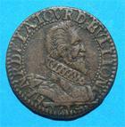 Photo numismatique  Monnaies Monnaies F�odales Champagne Liard SEIGNEURIE DE SEDAN ET DUCHE DE BOUILLON, HENRI de la tour d'Auvergne, liard 1614, poey d'avant 6328/29 TTB