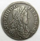 Photo numismatique  Monnaies Monnaies Royales Louis XIV Médaille 1/12ème d'Ecu LOUIS XIV, 1/12ème d'Ecu au buste juvénile, 1660 x Aix, 2.03 grms, G.115 TTB+/TTB petite fêlure à 16H00