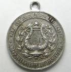 Photo numismatique  Monnaies Monnaies/medailles d'Alsace Colmar Médaille avec belière COLMAR 1894, médaille en aluminium avec bèlière, Erinnerung an das II Elsass Lothringen sangerbundes fest Colmar,  TTB