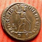 Photo numismatique  Monnaies Empire Romain CRISPUS, CRISPE, CRISPO Follis, folles,  CRISPUS, 317 après Jc, Follis Rome, Principia Iuventutis, 3.41 grammes, RIC.90 R3 SUPERBE