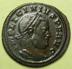 Photo numismatique  Monnaies Empire Romain LICINIUS I, LICINIO I,  Follis, folles,  LICINIUS Ier, follis, Ticinium  en 317.318, Iovi Conservatori, 3.34 grammes, RIC.70 R3  SUPERBE+