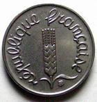 Photo numismatique  Monnaies Monnaies Françaises Cinquième république 1 centimes épi 1 centimes epi 1969 queue longue, G.91 SUP à FDC