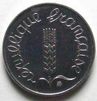 Photo numismatique  Monnaies Monnaies Françaises Cinquième république 1 centimes épi 1 centime epi 1981, G.91 FDC