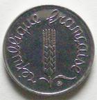 Photo numismatique  Monnaies Monnaies Fran�aises Cinqui�me r�publique 1 centimes �pi 1 centime epi 1993, G.91 FDC