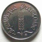 Photo numismatique  Monnaies Monnaies Françaises Cinquième république 1 centimes épi 1 centime epi 1995, G.91 FDC