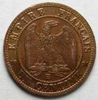 Photo numismatique  Monnaies Monnaies Françaises Second Empire 1 Centime NAPOLEON III, 1 centime tête laurée, 1861 BB Strasbourg, G.87 SUPERBE