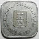 Photo numismatique  Monnaies Monnaies de nécéssité Caen 25 Centimes CAEN, union commerciale et industrielle de Caen, Ville de caen 25 centimes 1921, TTB+