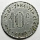 Photo numismatique  Monnaies Anciennes colonies Françaises Algerie, Algeria Affreville AFFREVILLE, 10 centimes 1916, Vin rouge, VERA, Vin blanc, Rosé, E.20.2 TTB Rare!!