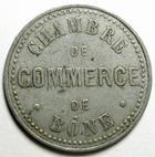Photo numismatique  Monnaies Anciennes colonies Françaises Algerie, Algeria Bône BÔNE, 10 centimes, chambre de commerce de Bône, trait sous le C, E.10.4 TTB