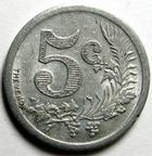 Photo numismatique  Monnaies Anciennes colonies Françaises Algerie, Algeria Oran ORAN, 5 centimes 1921, Chambre de commerce d'Oran, E.10.1 TTB+