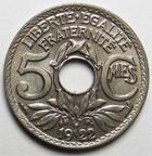 Photo numismatique  Monnaies Monnaies Françaises Troisième République 5 Centimes 5 centimes Lindauer 1922 Poissy, G.70 FDC !!