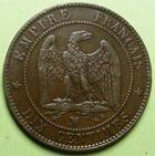 Photo numismatique  Monnaies Monnaies Françaises Second Empire 10 Centimes NAPOLEON III, 10 centimes tête nue, 1854 MA Marseille, G.248 TTB+