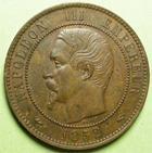 Photo numismatique  Monnaies Monnaies Françaises Second Empire 10 Centimes NAPOLEON III, 10 centimes tête nue, 1852 A, G.248 SUPERBE