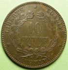 Photo numismatique  Monnaies Monnaies Françaises Troisième République 10 Centimes 10 Centimes Cérès 1896 A Faisceau, G.265a SUPERBE