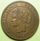 Photo numismatique  Monnaies Monnaies Fran�aises Troisi�me R�publique 10 Centimes 10 Centimes C�r�s 1895 A, G.265a SUPERBE