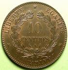 Photo numismatique  Monnaies Monnaies Fran�aises Troisi�me R�publique 10 Centimes 10 Centimes 1886 A Paris, G.265a SUPERBE+
