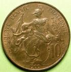Photo numismatique  Monnaies Monnaies Françaises Troisième République 10 Centimes 10 Centimes Dupuis 1900, G.277 Presque SUPERBE