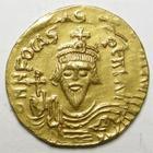 Photo numismatique  Monnaies Monnaies Byzantines 7ème siècle Solidus PHOCAS, FOCAS, solidus, constantinople en 602.610, Victoire debout de face, 4.43 grms, Ratto 1181 SUPERBE