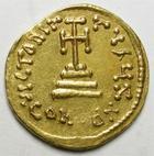 Photo numismatique  Monnaies Monnaies Byzantines 7ème siècle Solidus CONSTANS II, Solidus, Constantinople en 641.668, Croix, 4.44 grammes, Ratto.1515 TTB+
