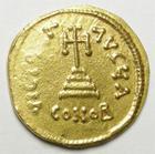 Photo numismatique  Monnaies Monnaies Byzantines 7ème siècle Solidus CONSTANS II, Solidus frappé à Constantinople en 641.668, Croix, 4.41 grms, Ratto.1507 faiblesse de frappe à gauche sinon TTB à SUPERBE