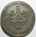 Photo numismatique  Monnaies Jetons Francs Maçons Loge Ecossaise Loge Ecossaise, le mont Sinaï, orient de Paris, bronze argenté 34 mm, Desaide, LAB.291 légère brillance sinon SUPERBE