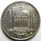 Photo numismatique  Monnaies Jetons Francs Maçons Jeton en argent FRANCS MACONS, Grand orient de France, 19ème siècle, jeton en argent, poinçon argent, Coquardon F., Julius 1198 TTB+