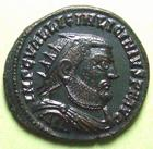Photo numismatique  Monnaies Empire Romain LICINIUS I, LICINIO I,  Follis, folles,  LICINIUS I, Follis Alexandrie, SMALB, Buste radié, IOVI CONSERVATORI, 3.12 Grms, RIC.28 R1 SUPERBE+ Belle monnaie!