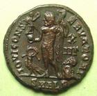 Photo numismatique  Monnaies Empire Romain LICINIUS I, LICINIO I,  Follis, folles,  LICINIUS I, Follis Alexandrie, SMALB, Buste radié, IOVI CONSERVATORI, 2.63 Grms, RIC.28 R1 SUPERBE