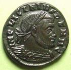 Photo numismatique  Monnaies Empire Romain LICINIUS I, LICINIO I,  Follis, folles,  LICINIUS I, Follis, Rome en 313, SOLI INVICTO COMITI, 3.75 Grms, RIC.4 R3! SUPERBE+