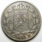 Photo numismatique  Monnaies Monnaies Fran�aises Charles X 5 Francs CHARLES X, 5 francs 1825 D Lyon, G.643 TTB