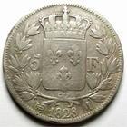 Photo numismatique  Monnaies Monnaies Françaises Charles X 5 Francs CHARLES X, 5 francs 1828 M Toulouse, G.644 TB