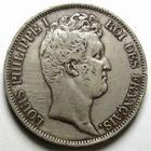 Photo numismatique  Monnaies Monnaies Françaises Louis Philippe 5 Francs LOUIS PHILIPPE, 5 Francs 1831 B Rouen, tranche en relief, G.676a TTB