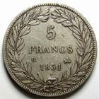 Photo numismatique  Monnaies Monnaies Fran�aises Louis Philippe 5 Francs LOUIS PHILIPPE, 5 Francs 1831 B Rouen, tranche en relief, G.676a TTB