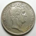 Photo numismatique  Monnaies Monnaies Françaises Louis Philippe 5 Francs LOUIS PHILIPPE, 5 Francs 1831 B Rouen, Tranche en creux, G.676 Beau TTB