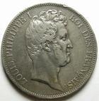 Photo numismatique  Monnaies Monnaies Françaises Louis Philippe 5 Francs LOUIS PHILIPPE, 5 Francs 1830 A Paris, tranche en relief, G.676a coups sur tranche sinon TTB