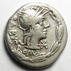 Photo numismatique  Monnaies République Romaine Acilia 125 avant Jc Denier, denar, denario, denarius ACILIUS BALBUS, Denier 125 avant Jc, tête casquée de Rome, victoire conduisant un quadrige, 3.80 Grms, RSC.Acilia 1 TTB