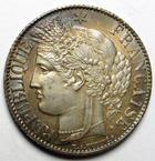Photo numismatique  Monnaies Monnaies Fran�aises Troisi�me R�publique 1 Franc 1 Franc C�r�s 1887 A, G.465a SUPERBE+