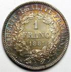 Photo numismatique  Monnaies Monnaies Françaises Troisième République 1 Franc 1 Franc Cérès 1887 A, G.465a SUPERBE+
