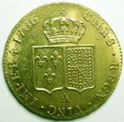 Photo numismatique  Monnaies Monnaies royales en or Louis XVI Double louis d'or aux Ecus accolés LOUIS XVI, Double louis d'or 1786 A, 15.28 grammes, G.363, légèrement paillé sinon quasi SUPERBE beau brillant d'origine!!