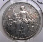 Photo numismatique  Monnaies Monnaies Françaises Troisième République 5 Centimes TROISIEME REPUBLIQUE 5 Centimes type Dupuis 1898, Flan argenté, Gadoury 165 Superbe