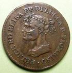 Photo numismatique  Monnaies Monnaies Françaises Napoleonides 3 Centesimi LUCCA et PIOMBINO, Elise Bonaparte et Felice Baciocchi, 3 centesimi 1806, Pagani.260 Beau TTB