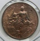 Photo numismatique  Monnaies Monnaies Françaises Troisième République 5 Centimes IIIème REPUBLIQUE 5 Centimes type Dupuis 1902, Gadoury 165 Superbe à Fleur de coins