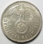 Photo numismatique  Monnaies Monnaies étrangères Allemagne 3ème reich 5 Mark 3ème Reich,dritte reich, third reich, 5 mark