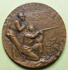 Photo numismatique  Monnaies Médailles Concours de Tir Médaille bronze NANCY, XIIIème concours de tir, national et international de 1906, Médaille en bronze de 36 mm, poinçon corne, graveur C.MAREY, SUPERBE+